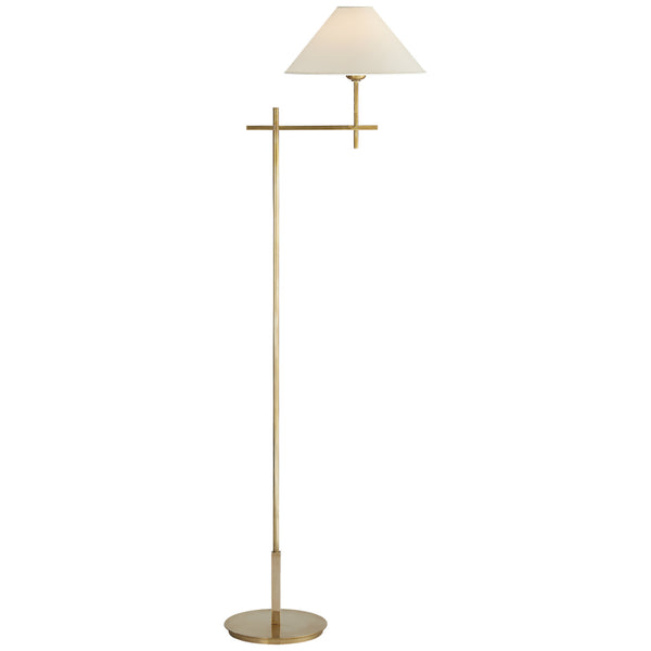 Visual Comfort SP 1023HAB-NP J. Randall Powers Hackney Bridge Arm Floor Lamp in Hand-Rubbed Antique Brass
