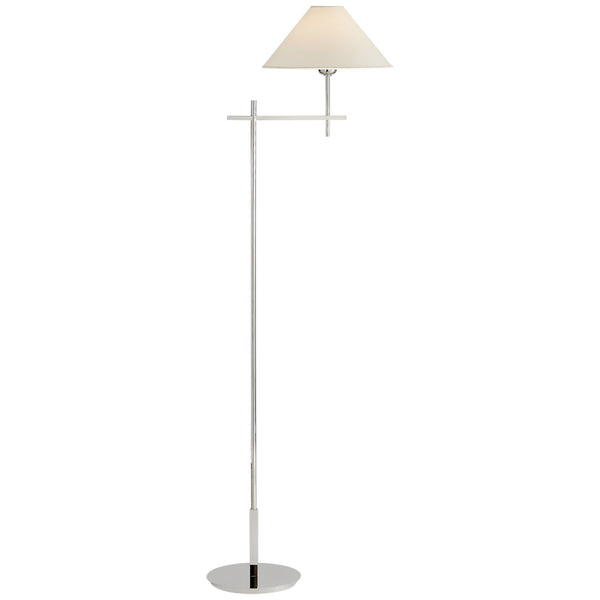 Visual Comfort SP 1023PN-NP J. Randall Powers Hackney Bridge Arm Floor Lamp in Polished Nickel
