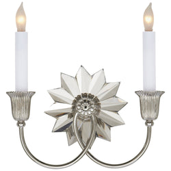 Visual Comfort SP 2013PN J. Randall Powers Huntingdon Double Sconce in Polished Nickel