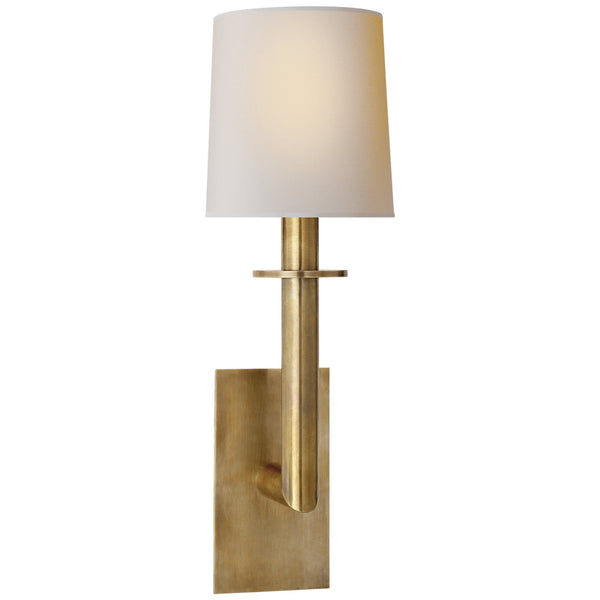 Visual Comfort SP 2017HAB-NP J. Randall Powers Dalston Sconce in Hand-Rubbed Antique Brass