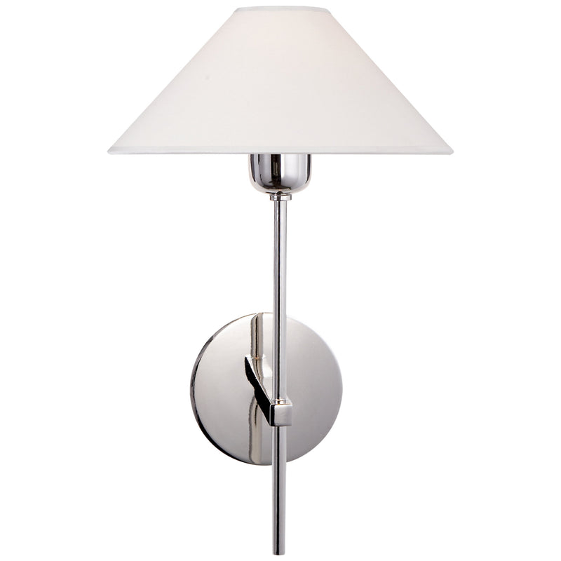 Visual Comfort SP 2022PN-NP J. Randall Powers Hackney Single Sconce in Polished Nickel