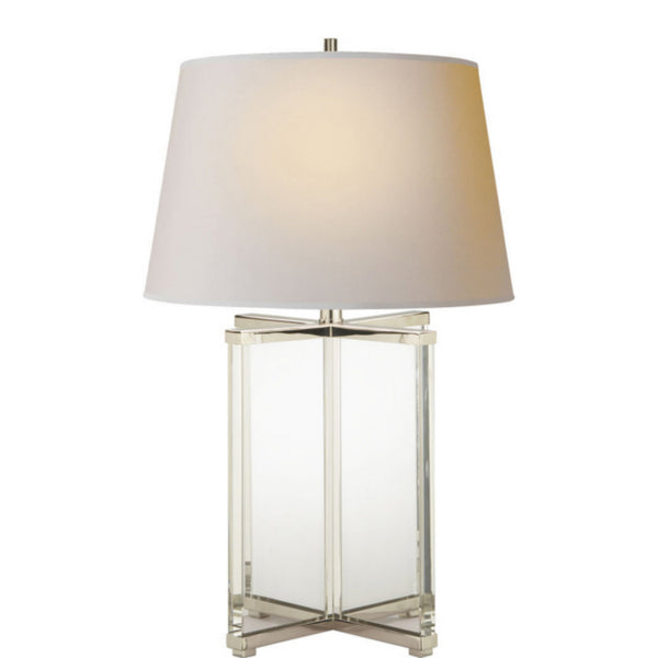Visual Comfort SP 3005CG-NP J. Randall Powers Cameron Table Lamp in Crystal