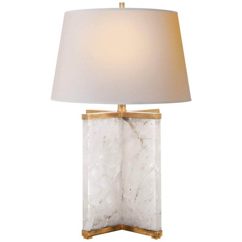 Visual Comfort SP 3005Q-NP J. Randall Powers Cameron Table Lamp in Natural Quartz Stone