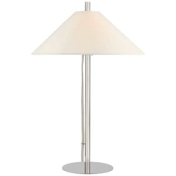 Visual Comfort SP 3050PN-L J. Randall Powers Dax Medium Table Lamp in Polished Nickel