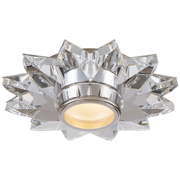 "Visual Comfort SP 4900CG J. Randall Powers Elora 7.25"" Solitaire Flush Mount in Crystal"