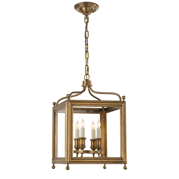 Visual Comfort SP 5001HAB J. Randall Powers Greggory Small Lantern in Hand-Rubbed Antique Brass