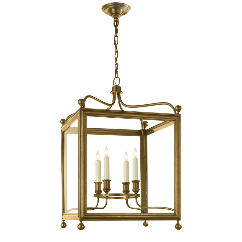 Visual Comfort SP 5002HAB J. Randall Powers Greggory Medium Lantern in Hand-Rubbed Antique Brass