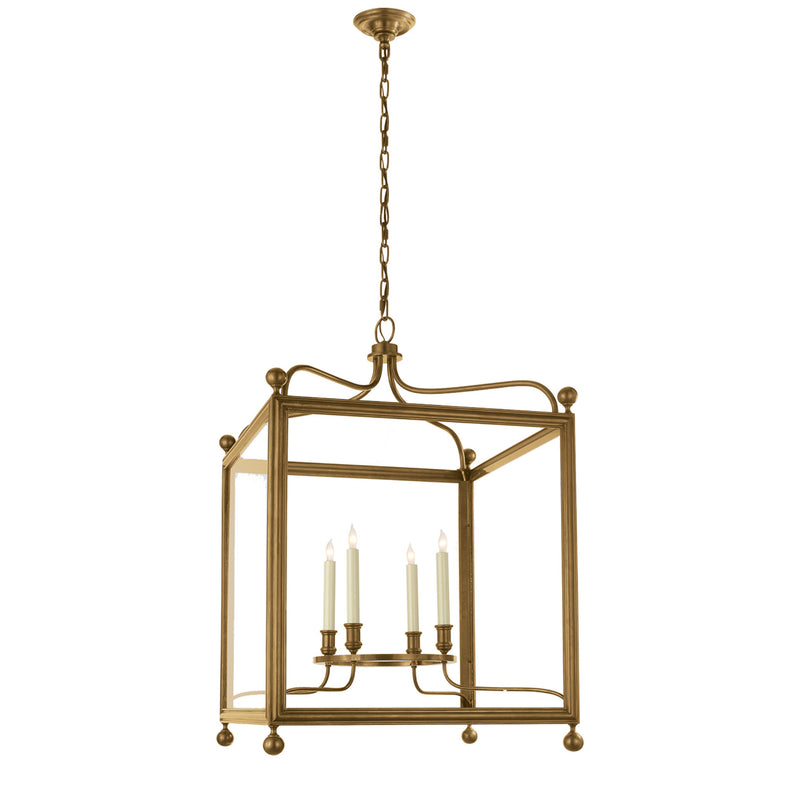 Visual Comfort SP 5003HAB J. Randall Powers Greggory Large Lantern in Hand-Rubbed Antique Brass