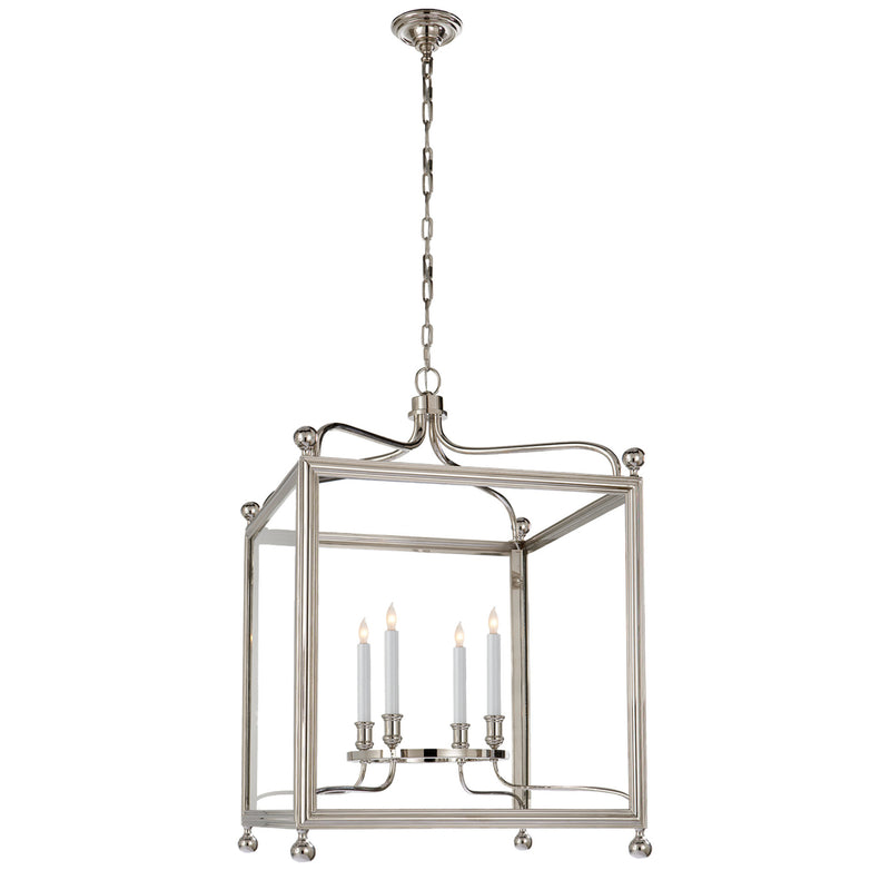 Visual Comfort SP 5003PN J. Randall Powers Greggory Large Lantern in Polished Nickel