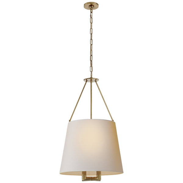 Visual Comfort SP 5020HAB-NP J. Randall Powers Dalston Hanging Shade in Hand-Rubbed Antique Brass