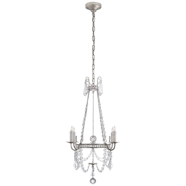 Visual Comfort SP 5030BSL-CG J. Randall Powers Sharon Small Chandelier in Burnished Silver Leaf