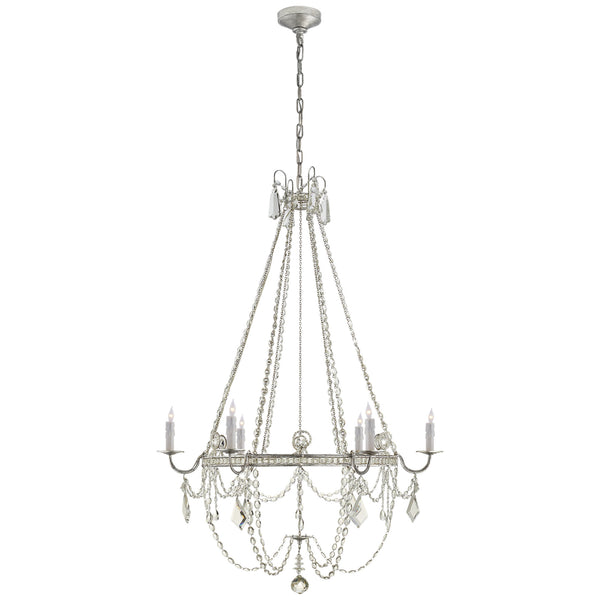 Visual Comfort SP 5031BSL-CG J. Randall Powers Sharon Medium Chandelier in Burnished Silver Leaf