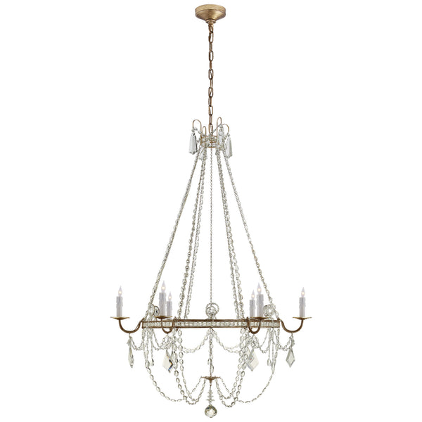 Visual Comfort SP 5031GI-CG J. Randall Powers Sharon Medium Chandelier in Gilded Iron