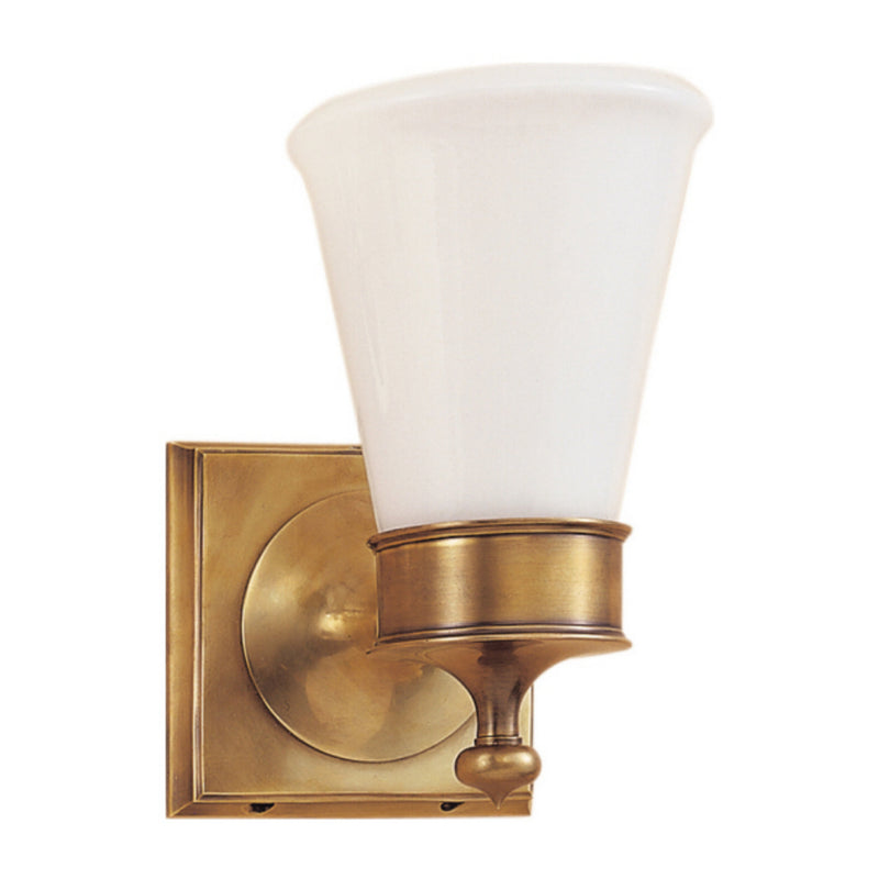 Visual Comfort SS 2001HAB-WG Studio VC Siena Single Sconce in Hand-Rubbed Antique Brass