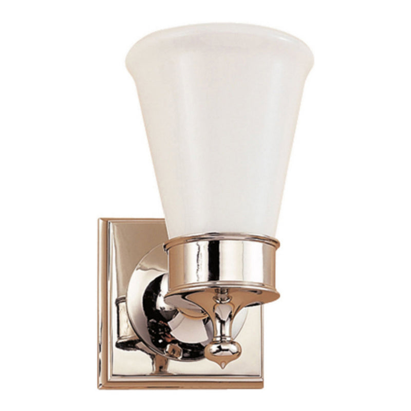 Visual Comfort SS 2001PN-WG Studio VC Siena Single Sconce in Polished Nickel