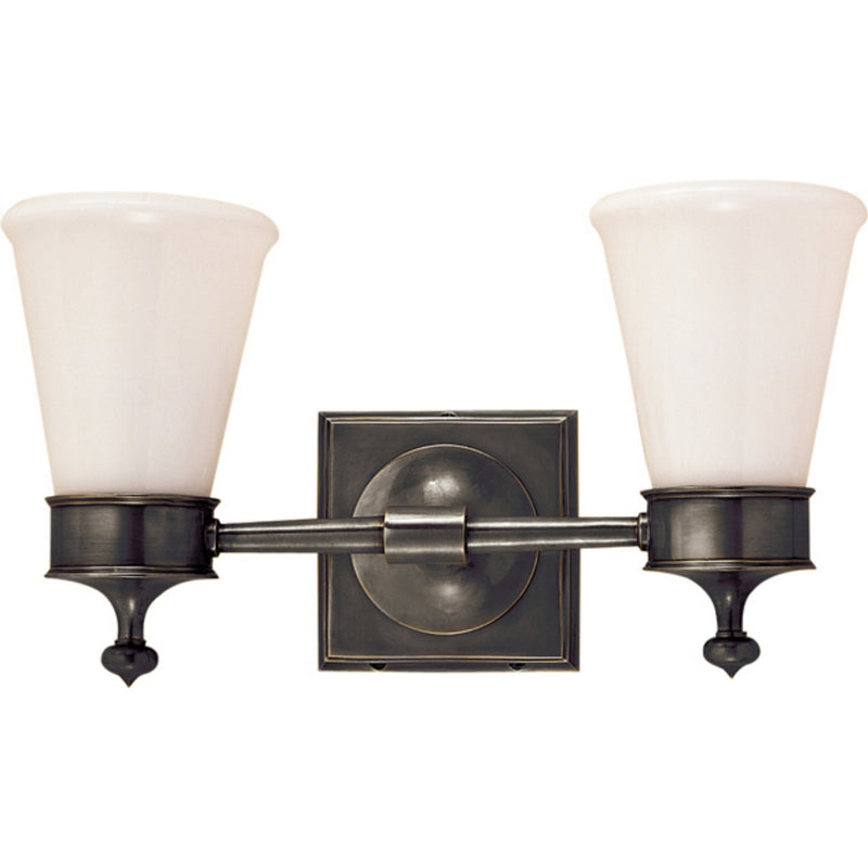 Visual Comfort SS 2002BZ-WG Studio VC Siena Double Sconce in Bronze