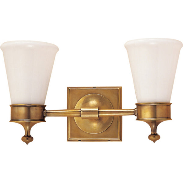 Visual Comfort SS 2002HAB-WG Studio VC Siena Double Sconce in Hand-Rubbed Antique Brass