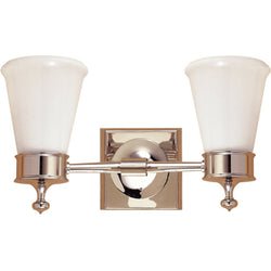 Visual Comfort SS 2002PN-WG Studio VC Siena Double Sconce in Polished Nickel