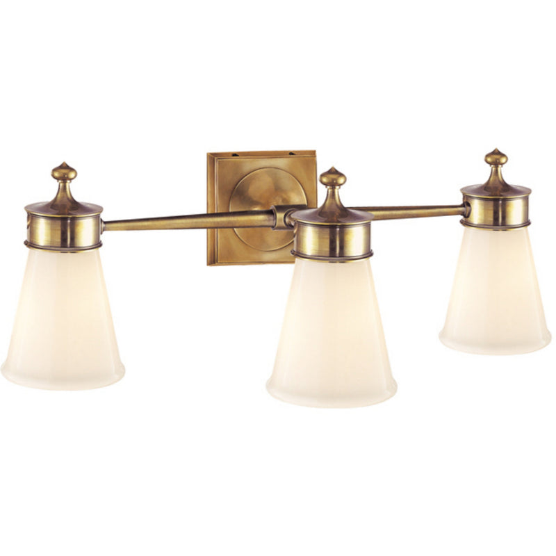 Visual Comfort SS 2003HAB-WG Studio VC Siena Triple Sconce in Hand-Rubbed Antique Brass