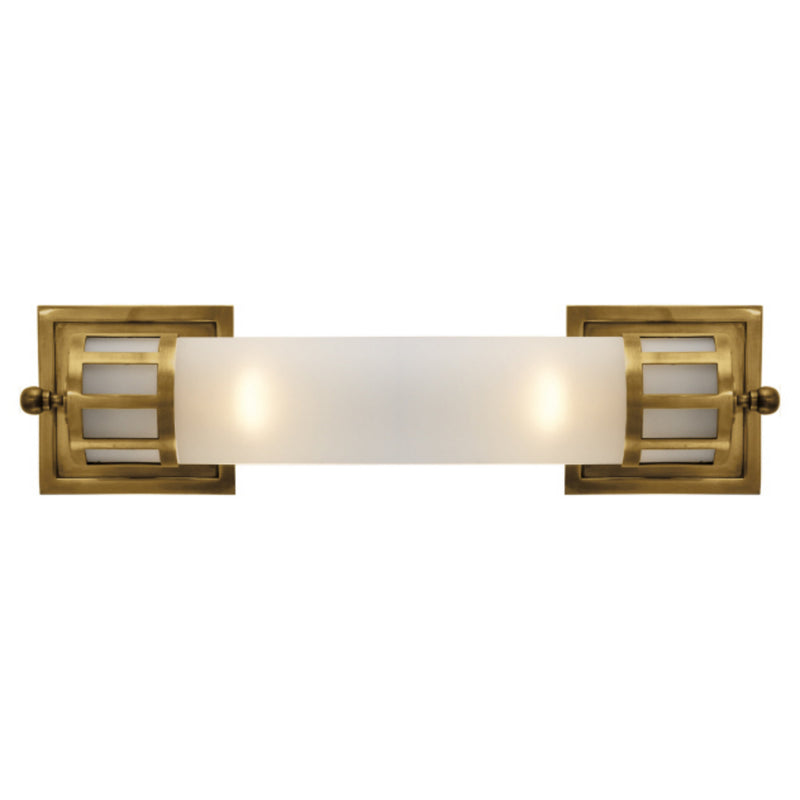Visual Comfort SS 2013HAB-FG Studio VC Openwork Medium Sconce in Hand-Rubbed Antique Brass