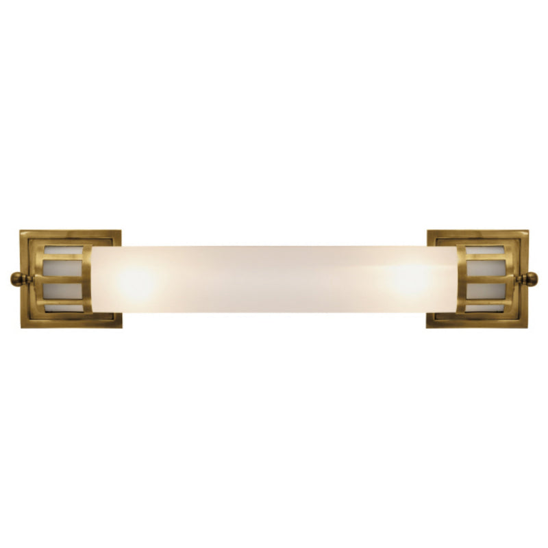 Visual Comfort SS 2014HAB-FG Studio VC Openwork Long Sconce in Hand-Rubbed Antique Brass