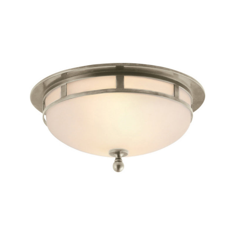 Visual Comfort SS 4010AN-FG Studio VC Openwork Small Flush Mount in Antique Nickel