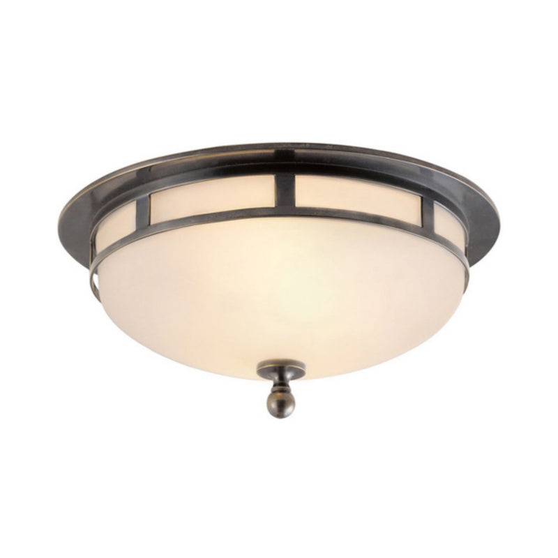Visual Comfort SS 4010BZ-FG Studio VC Openwork Small Flush Mount in Bronze