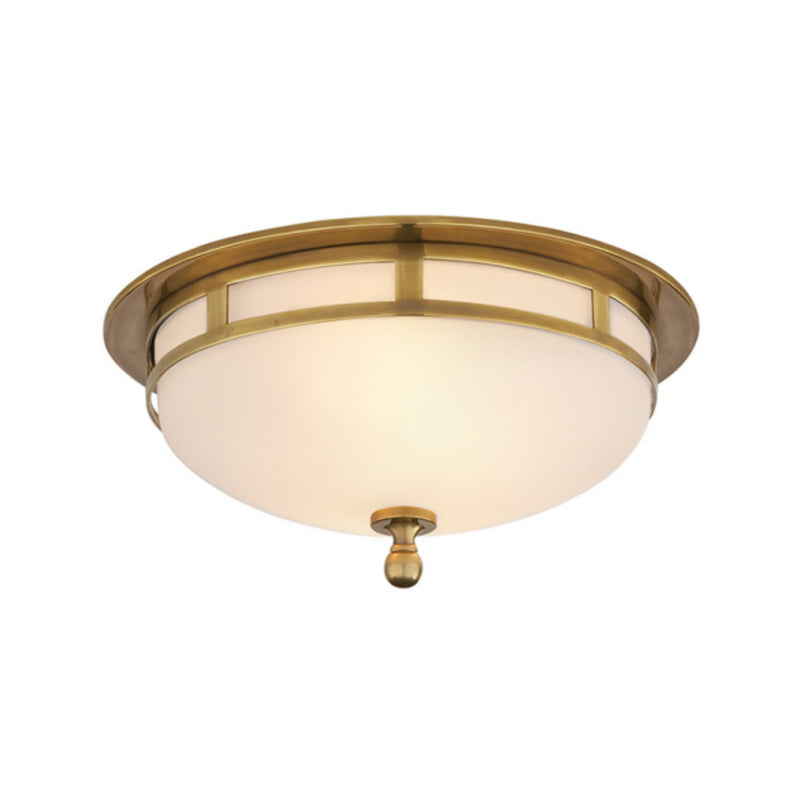 Visual Comfort SS 4010HAB-FG Studio VC Openwork Small Flush Mount in Hand-Rubbed Antique Brass