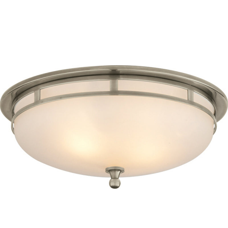 Visual Comfort SS 4011AN-FG Studio VC Openwork Large Flush Mount in Antique Nickel
