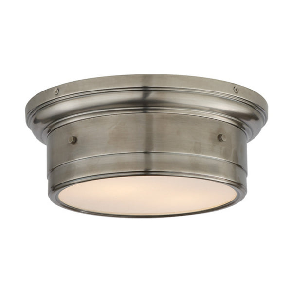 Visual Comfort SS 4015AN-WG Studio VC Traditional Siena Small Flush Mount in Antique Nickel