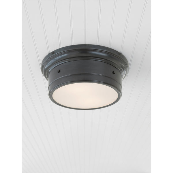 Visual Comfort SS 4015BZ-WG Studio VC Siena Small Flush Mount in Bronze