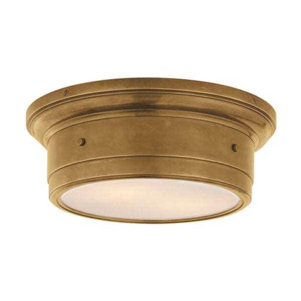 Visual Comfort SS 4015HAB-WG Studio VC Siena Small Flush Mount in Hand-Rubbed Antique Brass