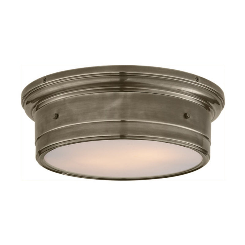 Visual Comfort SS 4016AN-WG Studio VC Siena Large Flush Mount in Antique Nickel