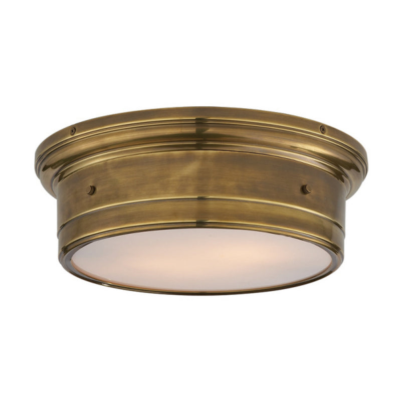 Visual Comfort SS 4016HAB-WG Studio VC Siena Large Flush Mount in Hand-Rubbed Antique Brass