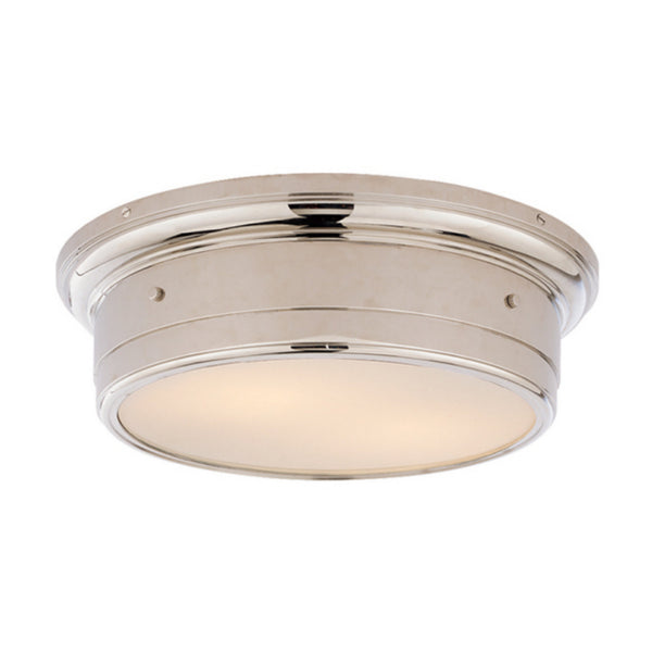 Visual Comfort SS 4016PN-WG Studio VC Traditional Siena Large Flush Mount in Polished Nickel