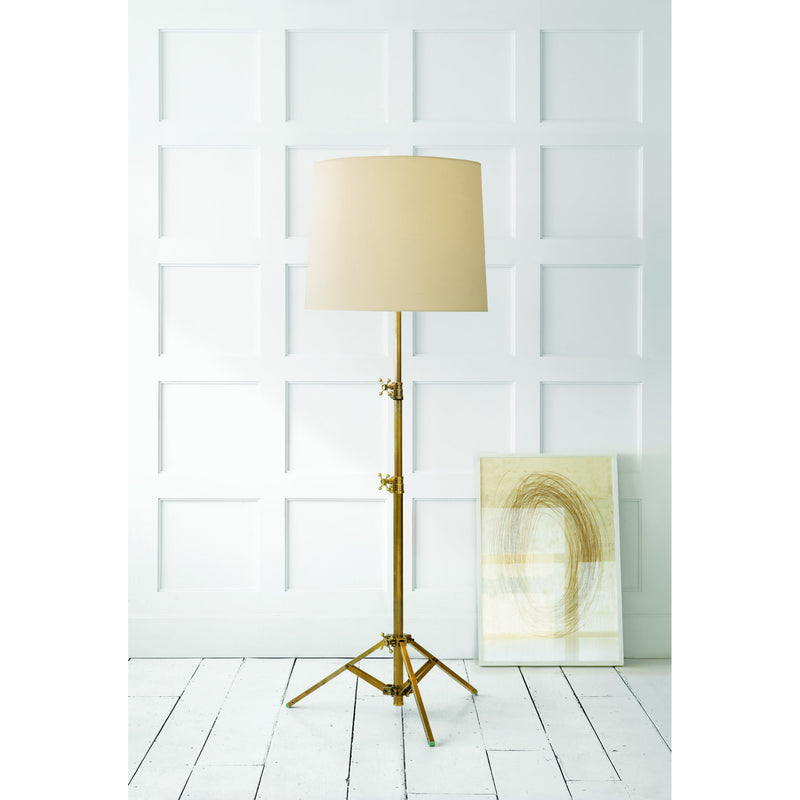 Visual Comfort TOB 1010HAB-NP Thomas O'Brien Studio Floor Lamp in Hand-Rubbed Antique Brass