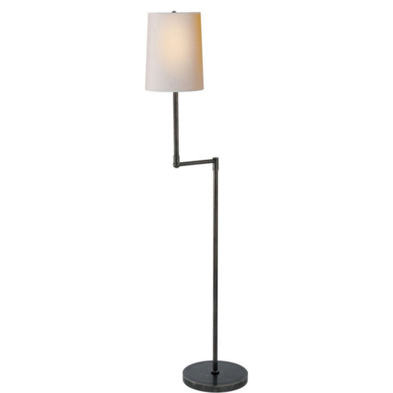 Visual Comfort TOB 1012BZ-NP Thomas O'Brien Ziyi Pivoting Floor Lamp in Bronze