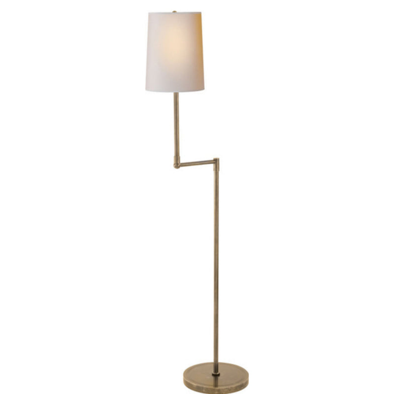 Visual Comfort TOB 1012HAB-NP Thomas O'Brien Ziyi Pivoting Floor Lamp in Hand-Rubbed Antique Brass