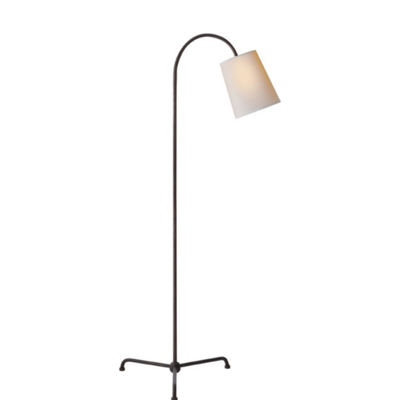 Visual Comfort TOB 1021AI-NP Thomas O'Brien Mia Floor Lamp in Aged Iron