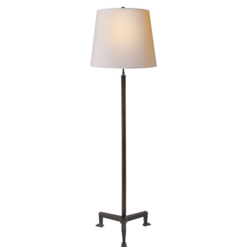 Visual Comfort TOB 1152AI-NP Thomas O'Brien Parish Floor Lamp in Aged Iron