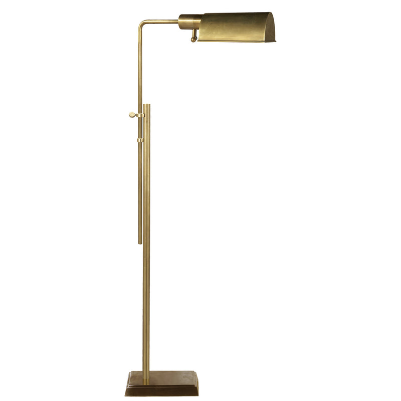 Visual Comfort TOB 1200HAB Thomas O'Brien Pask Pharmacy Floor Lamp in Hand-Rubbed Antique Brass