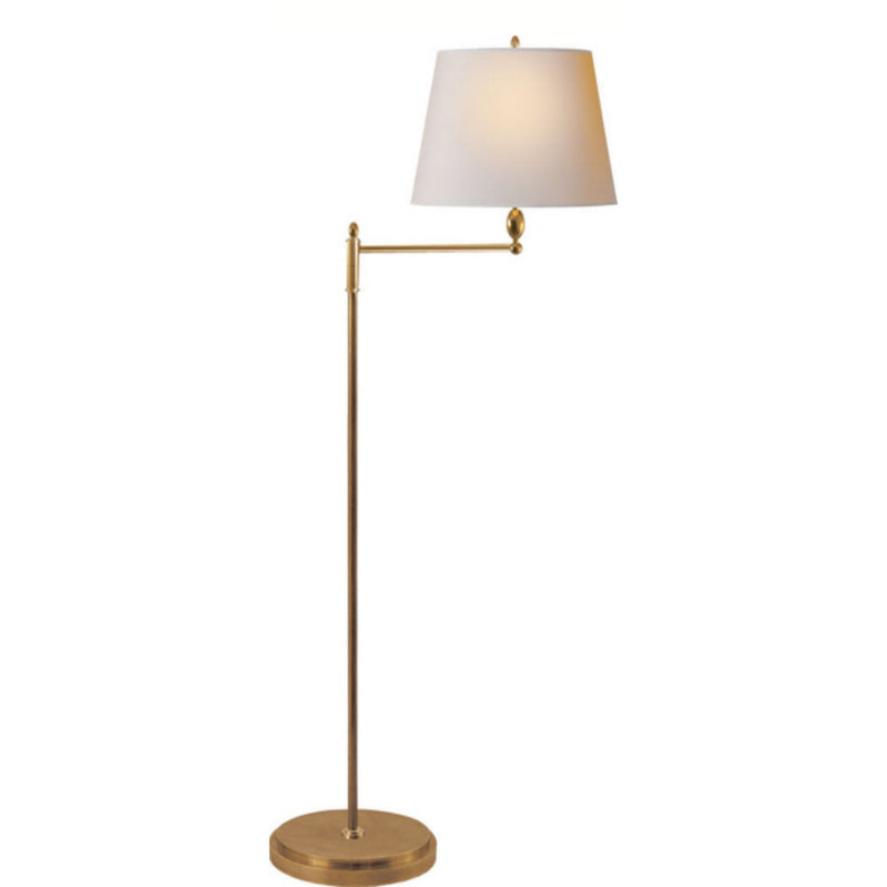 Visual Comfort TOB 1201HAB-NP Thomas O'Brien Paulo Floor Light in Hand-Rubbed Antique Brass