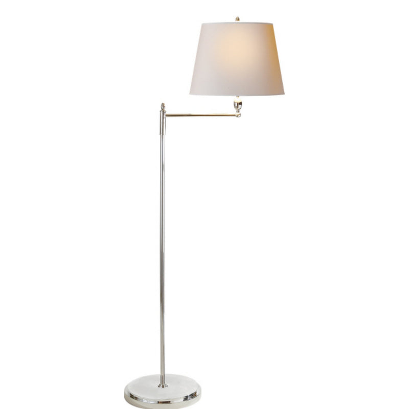 Visual Comfort TOB 1201PN-NP Thomas O'Brien Paulo Floor Light in Polished Nickel