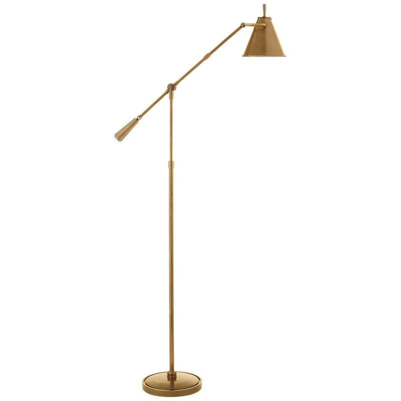 Visual Comfort TOB 1536HAB Thomas O'Brien Goodman Floor Lamp in Hand-Rubbed Antique Brass