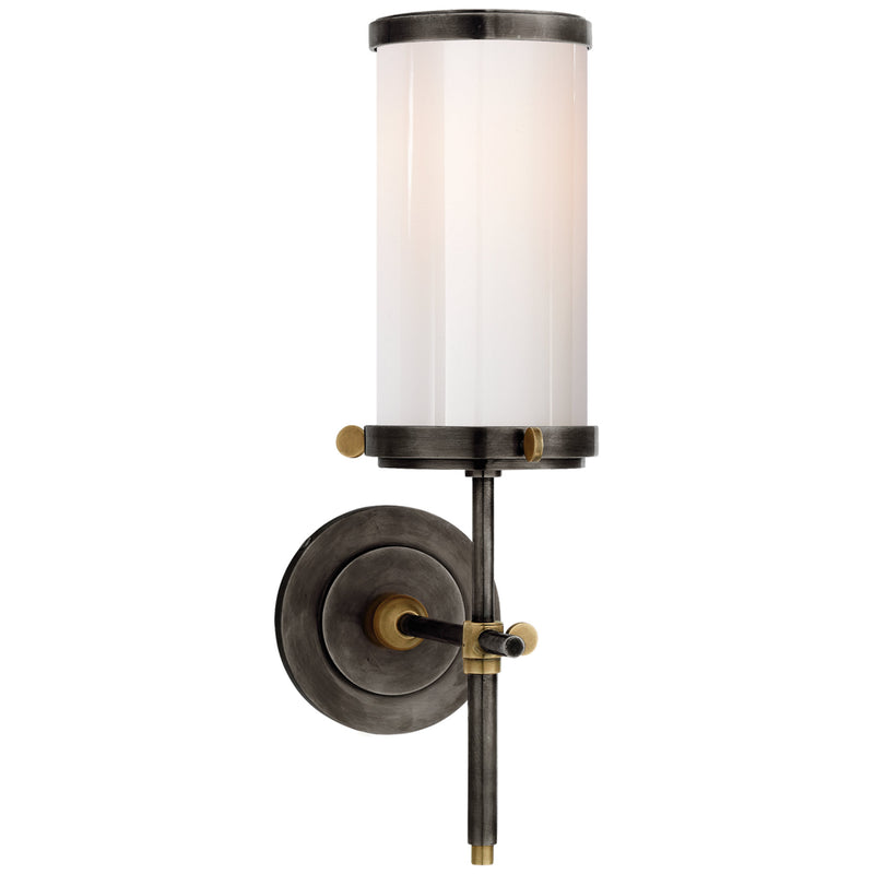 Visual Comfort TOB 2015BZ/HAB-WG Thomas O'Brien Bryant Bath Sconce in Bronze and Hand-Rubbed Antique Brass