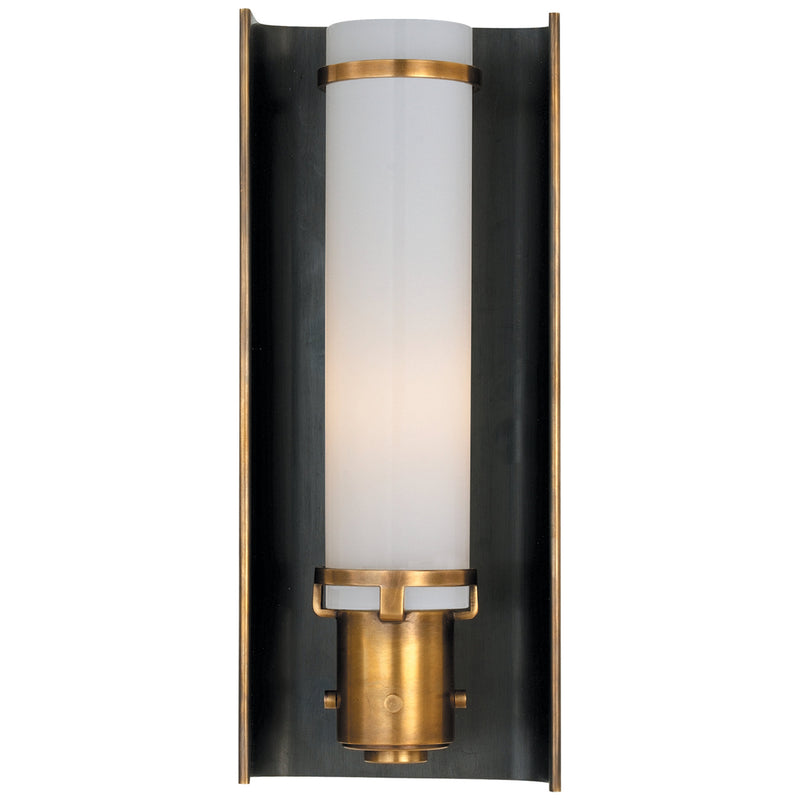 Visual Comfort TOB 2016BZ/HAB Thomas O'Brien Greenwich Sconce in Bronze with Antique Brass