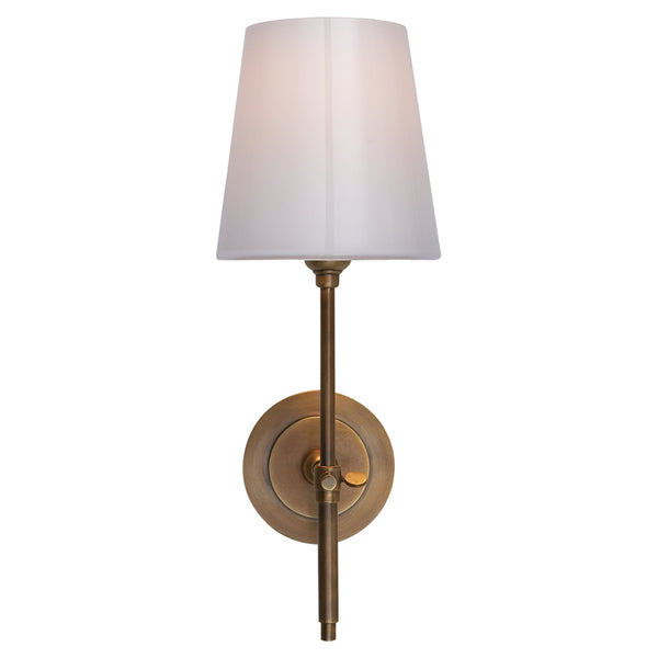 Visual Comfort TOB 2022HAB-WG Thomas O'Brien Bryant Sconce in Hand-Rubbed Antique Brass