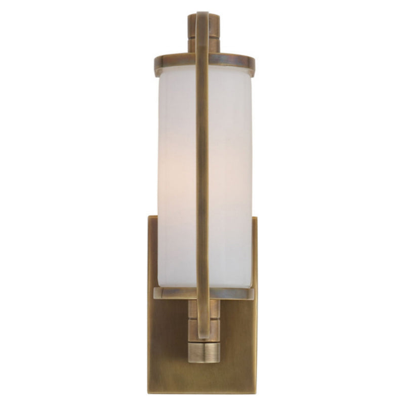 Visual Comfort TOB 2030HAB-WG Thomas O'Brien Keeley Short Pivoting Sconce in Hand-Rubbed Antique Brass