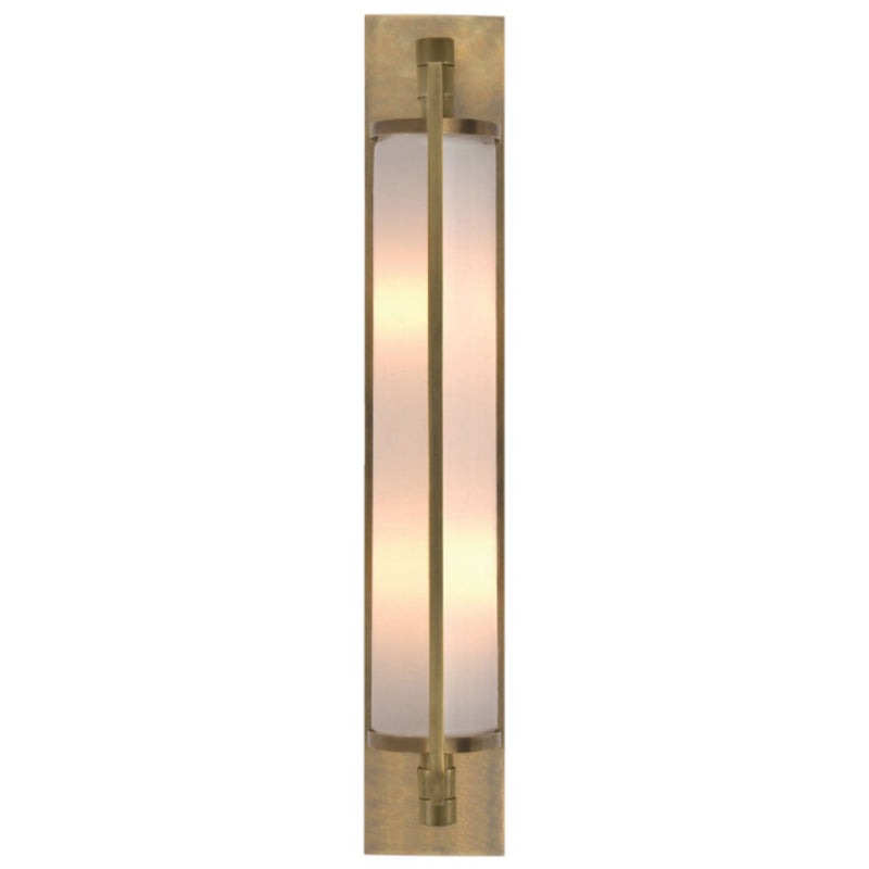 Visual Comfort TOB 2031HAB-WG Thomas O'Brien Keeley Tall Pivoting Sconce in Hand-Rubbed Antique Brass