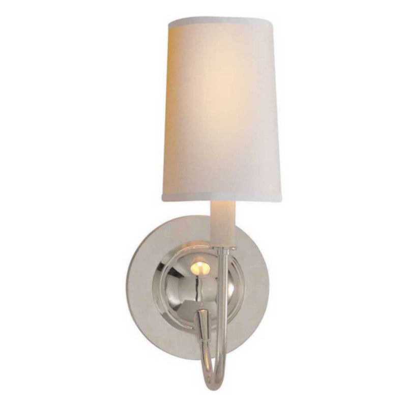 Visual Comfort TOB 2067PS-NP Thomas O'Brien Elkins Sconce in Polished Silver